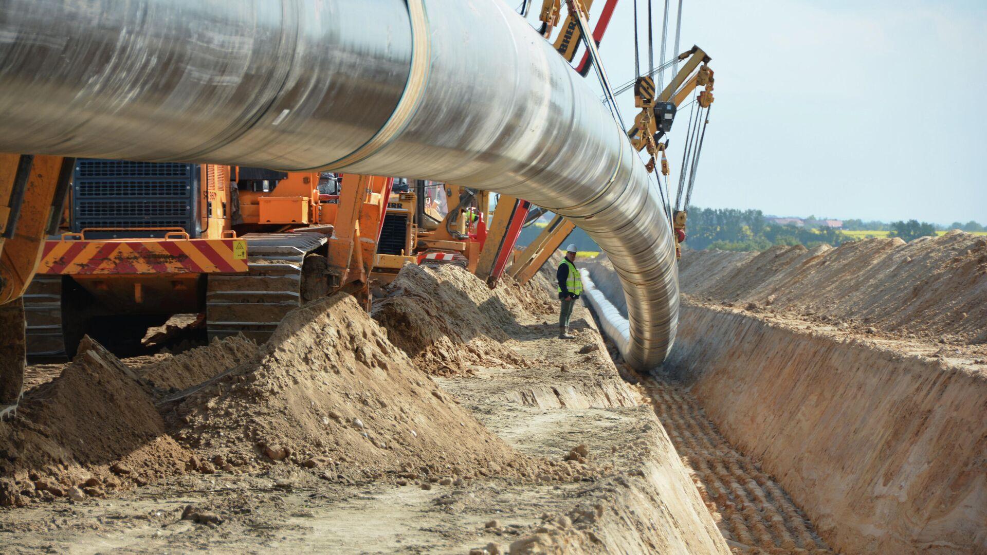 Las obras de construcción del gasoducto Nord Stream 2 - Sputnik Mundo, 1920, 10.09.2021