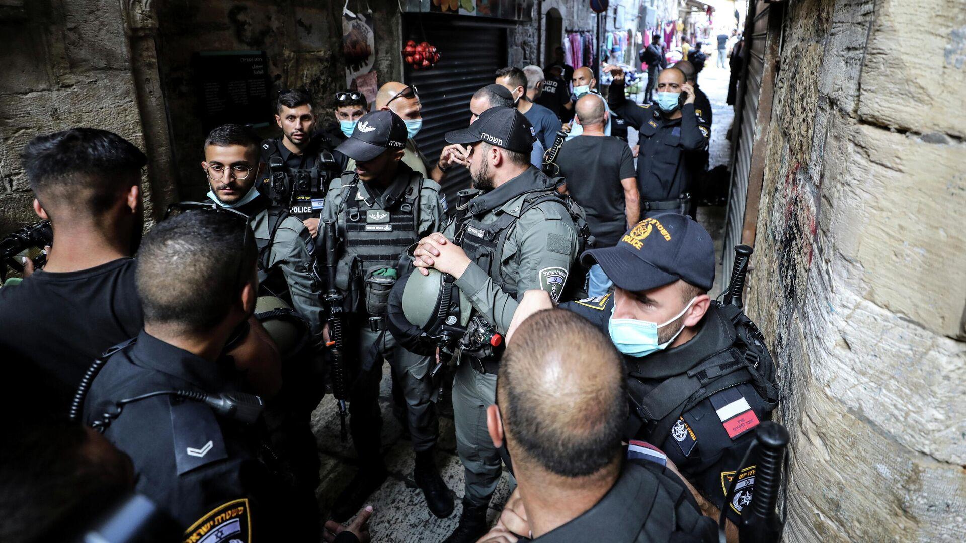 La Policía israelí en el lugar del incidente - Sputnik Mundo, 1920, 11.09.2021