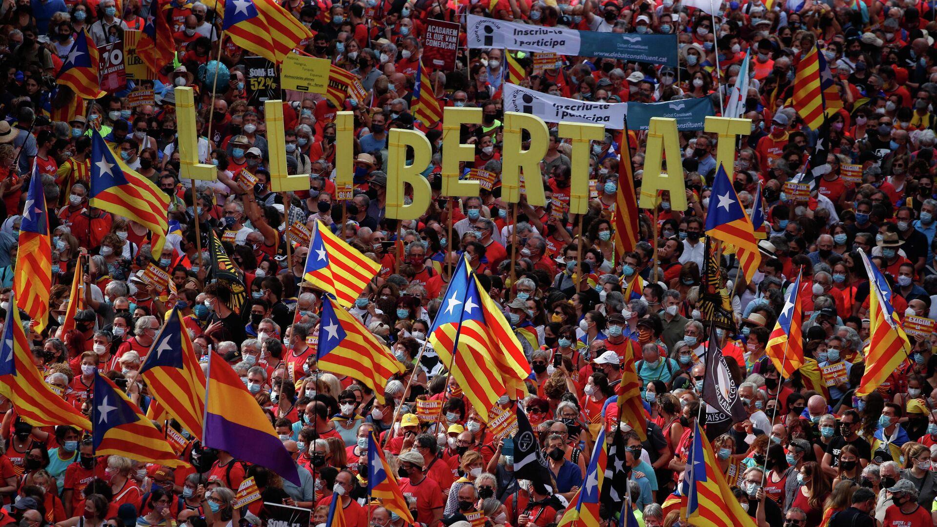 Movilización del movimiento independentista de Cataluña - Sputnik Mundo, 1920, 11.09.2021