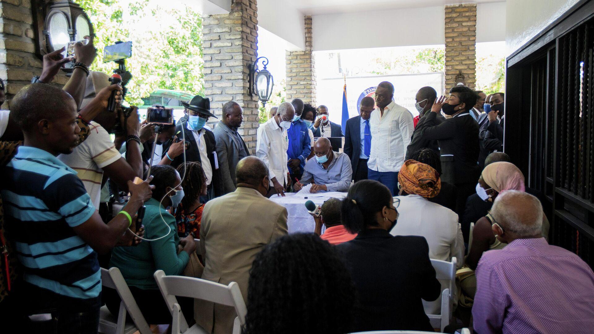 Políticos de Haití firman acuerdo político - Sputnik Mundo, 1920, 12.09.2021