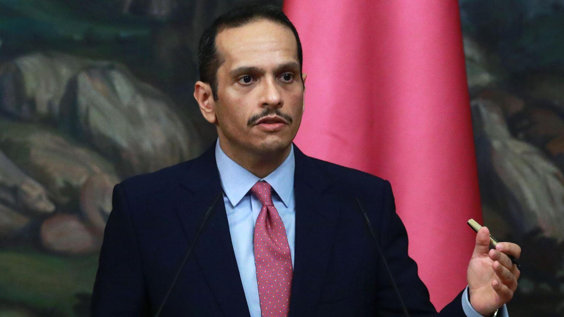 Mohamed bin Abdulrahman Thani,  ministro de Exteriores catarí - Sputnik Mundo, 1920, 12.09.2021