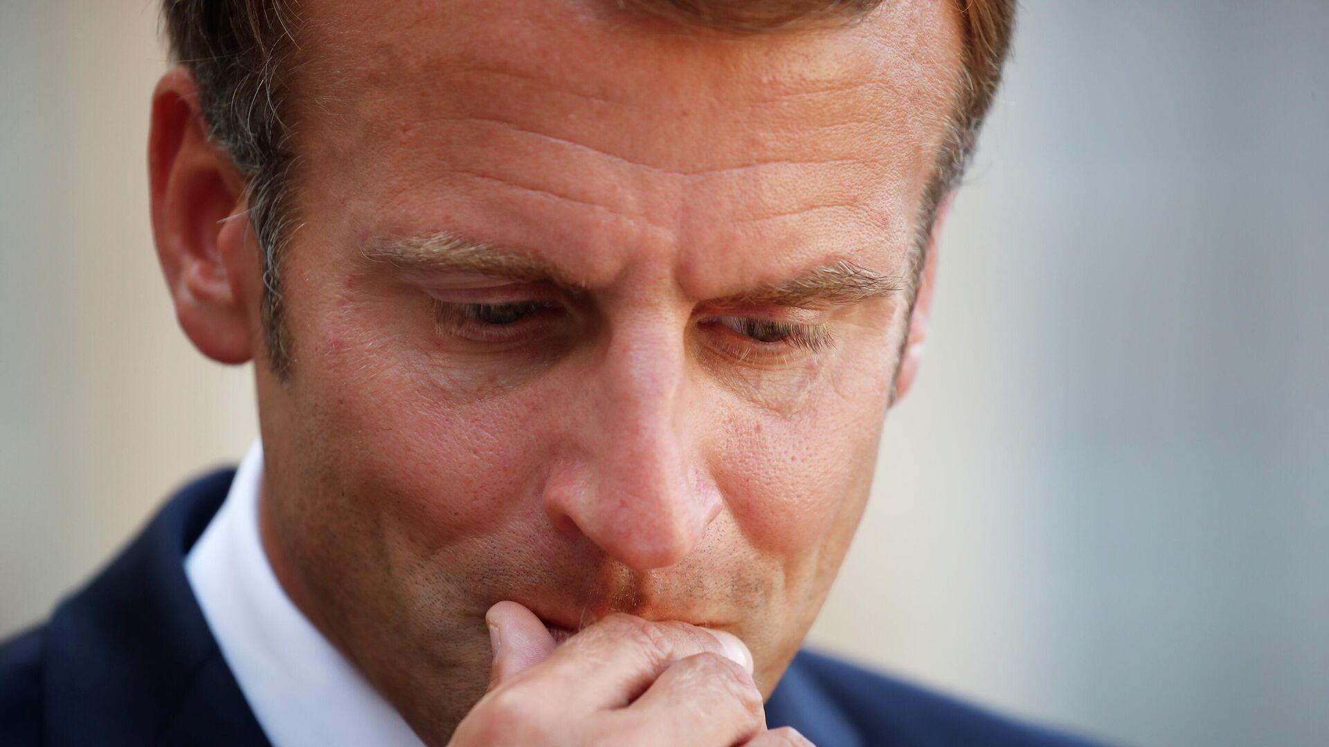 el presidente francés Emmanuel Macron - Sputnik Mundo, 1920, 13.09.2021
