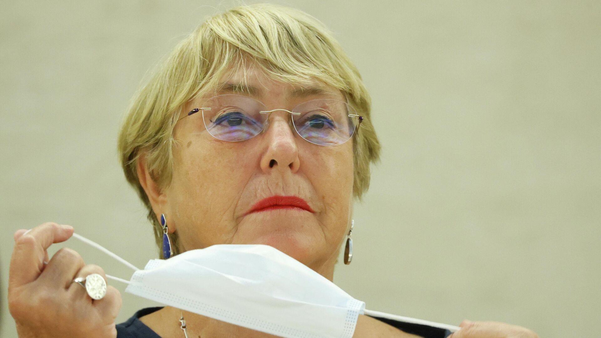 Michelle Bachelet, la alta comisionada de las Naciones Unidas para los Derechos Humanos (ACNUR) - Sputnik Mundo, 1920, 13.09.2021