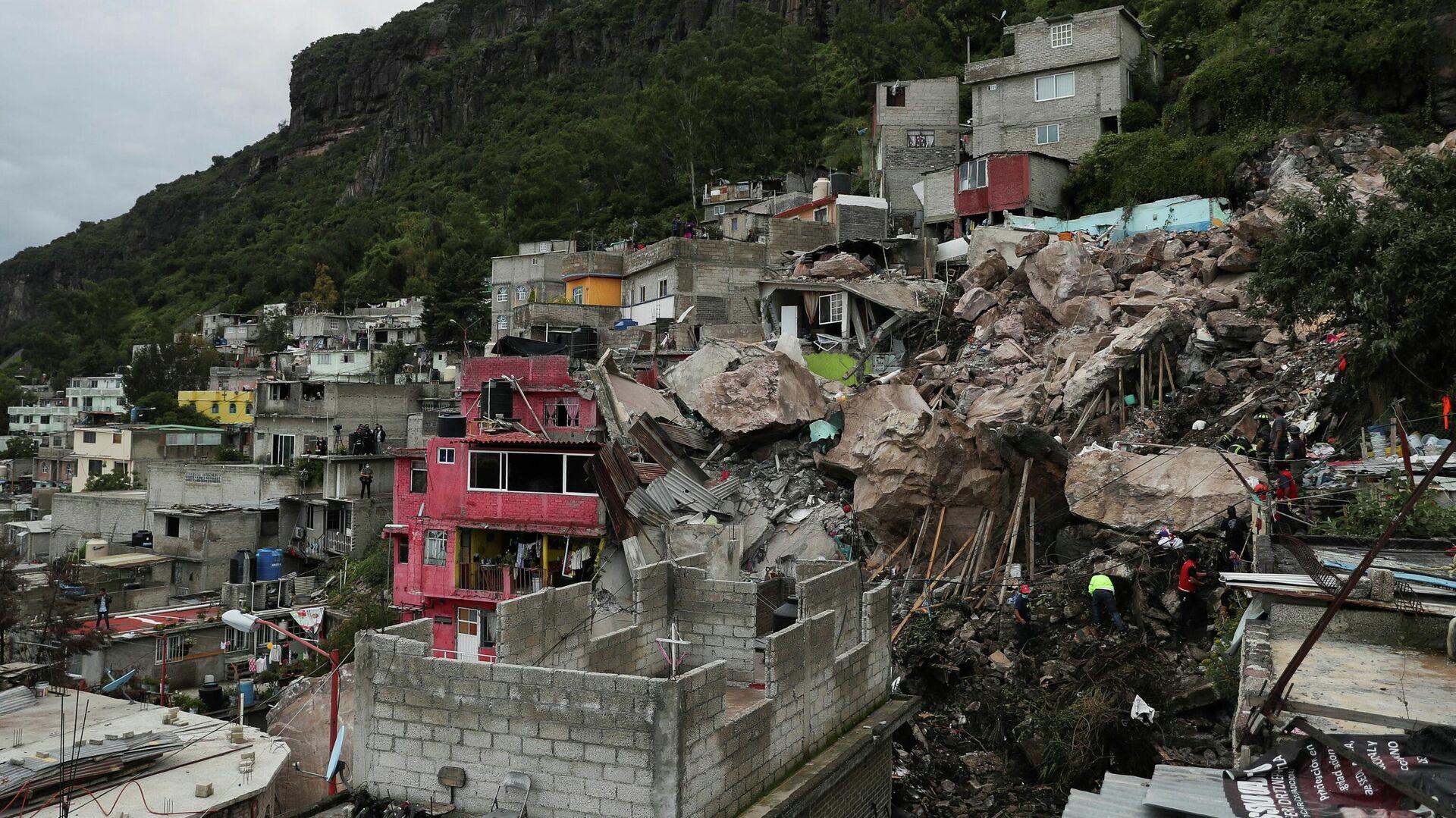 Las consecuencias de un terremoto en Ciudad de México, el 10 de septiembre - Sputnik Mundo, 1920, 14.09.2021