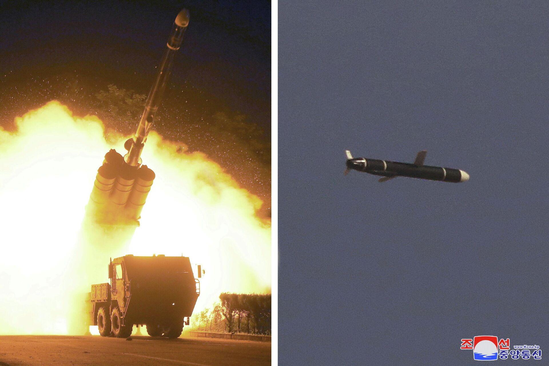 El lanzamiento de un misil de crucero por Corea del Norte - Sputnik Mundo, 1920, 14.09.2021