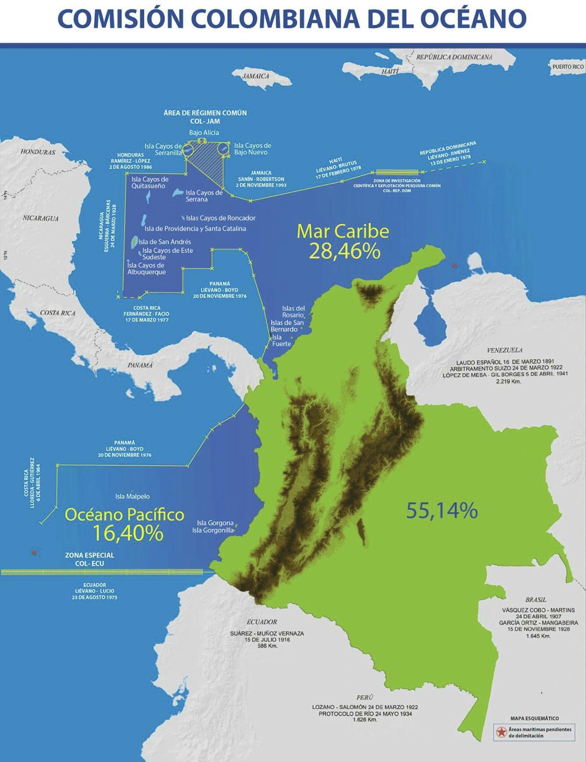 Aguas territoriales de Colombia - Sputnik Mundo, 1920, 14.09.2021