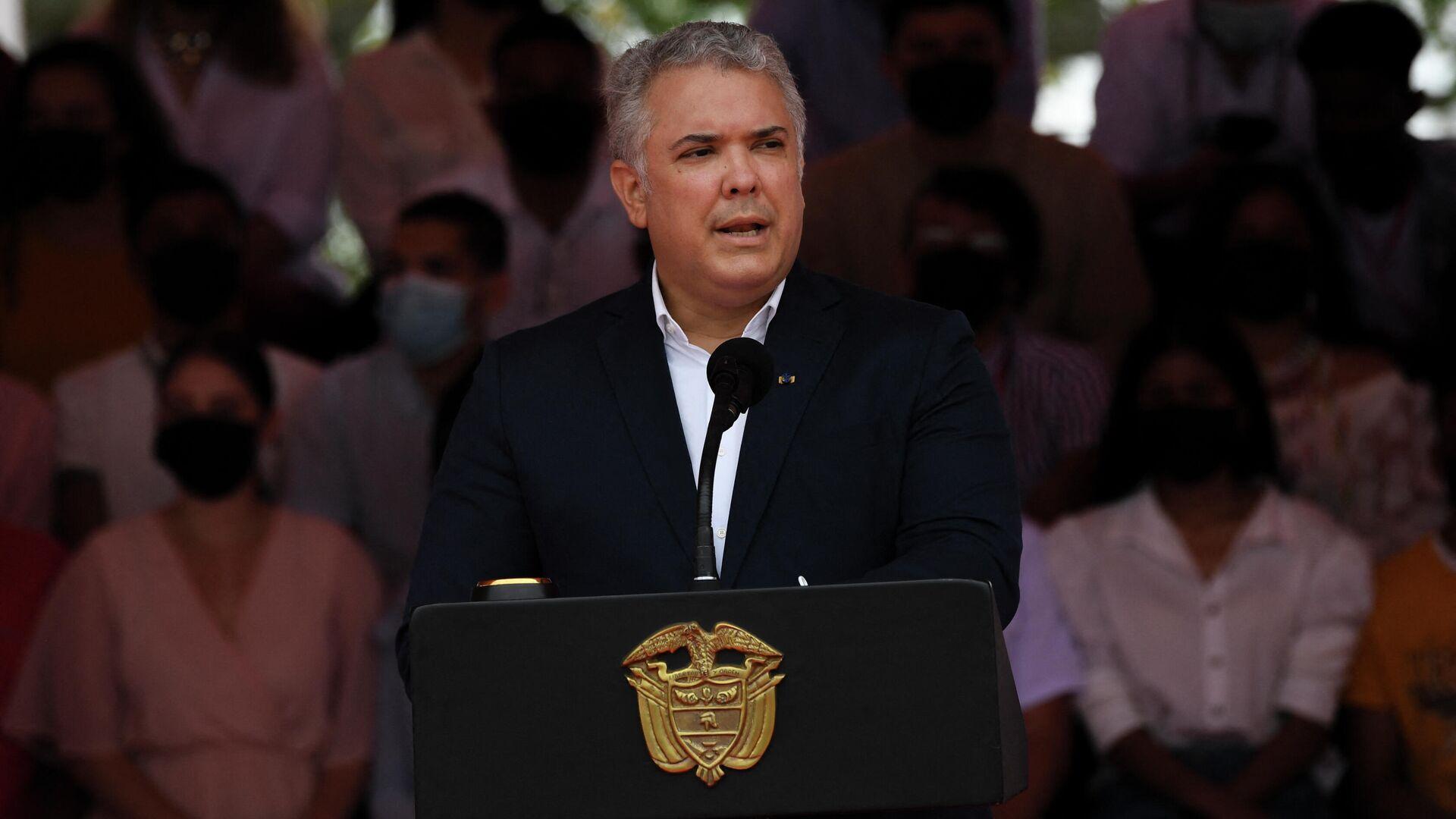 El presidente de Colombia, Iván Duque - Sputnik Mundo, 1920, 15.09.2021