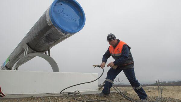 Сonstrucción del gasoducto - Sputnik Mundo