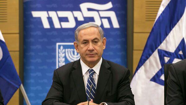 Israel's Prime Minister Benjamin Netanyahu attends a Likud party meeting at parliament in Jerusalem December 8, 2014. - Sputnik Mundo