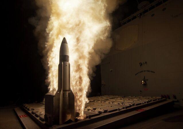 El misil estadounidense SM-3 (archivo)