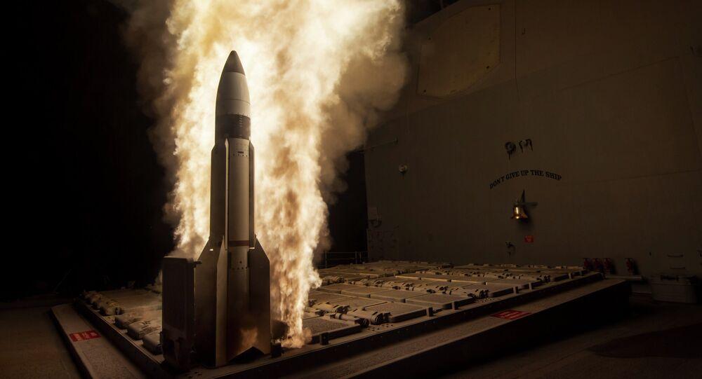 Ensayo del misil interceptor SM-3