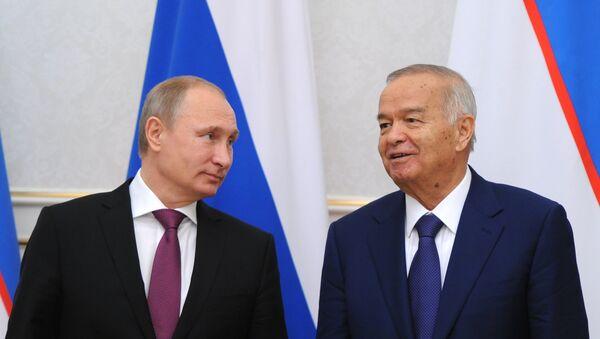 Presidente de Rusia, Vladímir Putin, y presidente de Uzbekistán, Islam Karímov - Sputnik Mundo