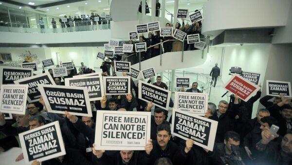 Manifestación de periodistas en Turquìa. 14 de diciembre, 2014 - Sputnik Mundo