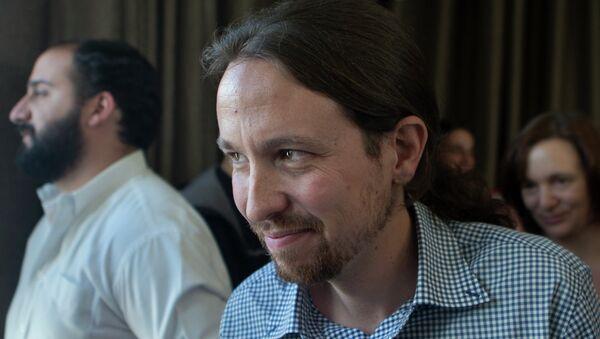 Pablo Iglesias, líder de Podemos, se estrena en Cataluña en pleno desafío independentista - Sputnik Mundo