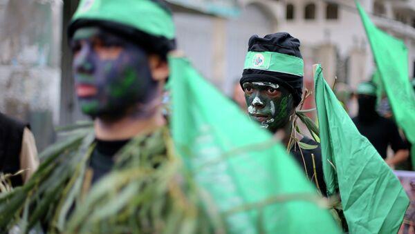 Miembros del grupo islamista palestino Hamás - Sputnik Mundo