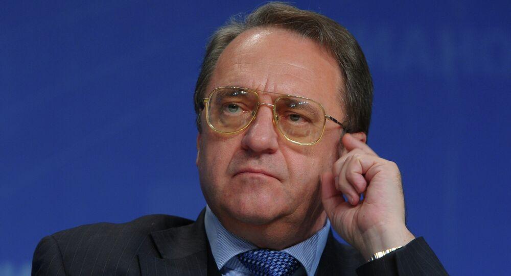 Mijaíl Bogdánov, viceministro de Exteriores y representante especial del Presidente de Rusia para Oriente Medio y los países de África