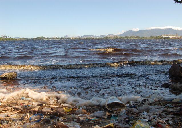 Загрязнение в бухте Гуанабара, Бразилия
