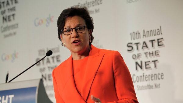 Penny Pritzker, secretaria de Comercio de EEUU - Sputnik Mundo
