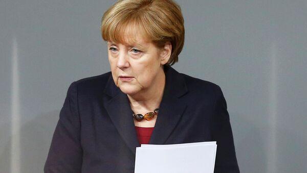 Angela Merkel, canciller de Alemania considera inevitables las sanciones hasta que Moscú respete la soberanía ucraniana 18 de diciembre , 2014 - Sputnik Mundo