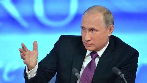 Rueda de prensa anual de Vladímir Putin (Archivo) - Sputnik Mundo