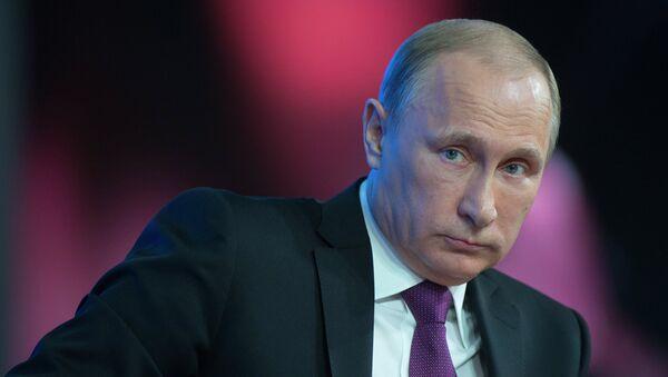 Vladímir Putin, celebró una rueda de prensa anual durante la cual declaró que Rusia está dispuesta a recibir en Moscú a cualquier representante del Gobierno georgiano - Sputnik Mundo