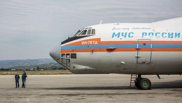Avión ruso con ayuda humanitaria en Siria (archivo) - Sputnik Mundo