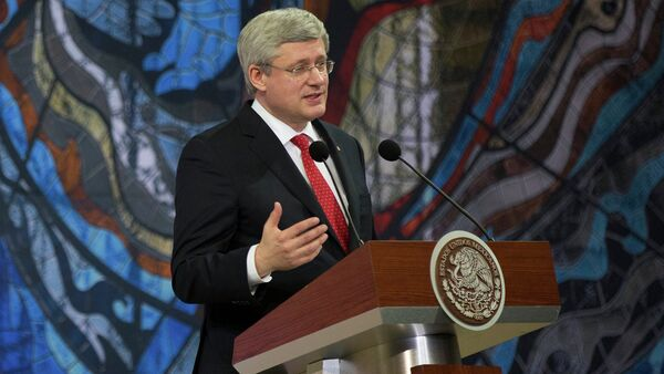 Primer ministro de Canadá, Stephen Harper - Sputnik Mundo
