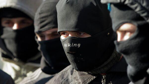 Activistas de Pravy Sektor (archivo) - Sputnik Mundo