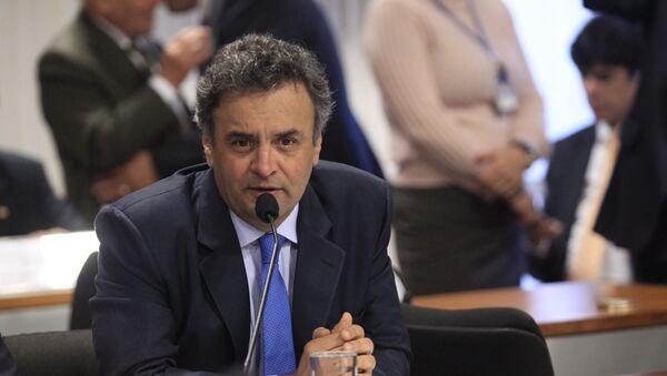 Aécio Neves, líder del Partido de la Social Democracia de Brasil (PSDB) - Sputnik Mundo