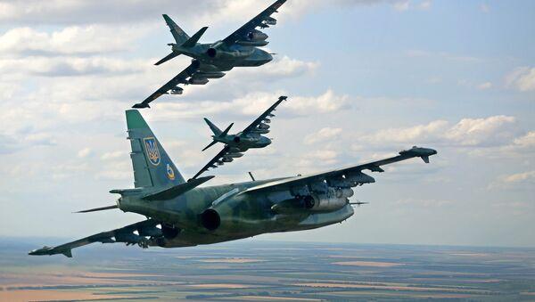 Avión de Fuerza Aérea de Ucrania Su-25 - Sputnik Mundo
