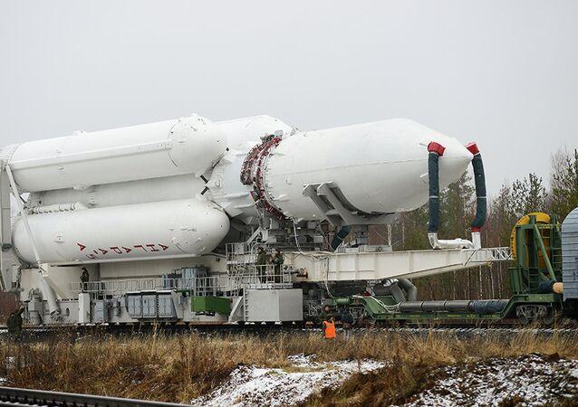 El cohete Angara A5 (archivo)