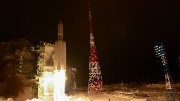 Primer lanzamiento del cohete pesado ruso Angará-A5 (archivo, 2014) - Sputnik Mundo