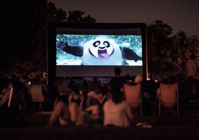 Dibujo animado Kung Fu Panda en el cine en aire libre
