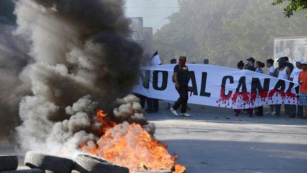Protestas en Nicaragua contra el canal interoceánico - Sputnik Mundo