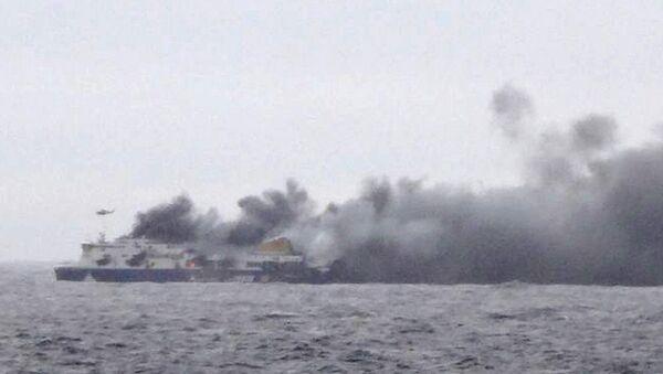 Ferry 'Norman Atlantic' en llamas - Sputnik Mundo