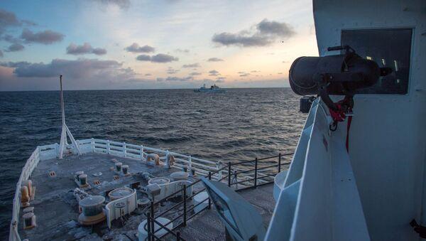 La búsqueda de los tripulantes del pesquero hundido, 13 de Diciembre, 2013 - Sputnik Mundo