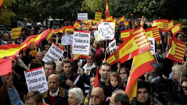 Voto simbólico por la Independencia catalán (Archivo) - Sputnik Mundo