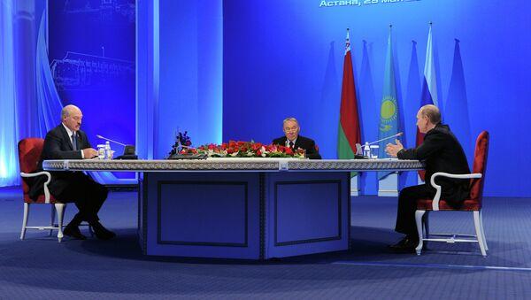 Presidentes de Rusia, Kazajistán y Bielorrusia - Sputnik Mundo
