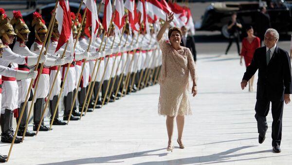 Dilma Rousseff durante la ceremonia de toma de posesión realizada en la capital Brasília - Sputnik Mundo