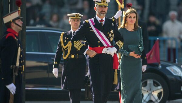 Rey Felipe VI y reina consorte de España Letizia Ortiz - Sputnik Mundo
