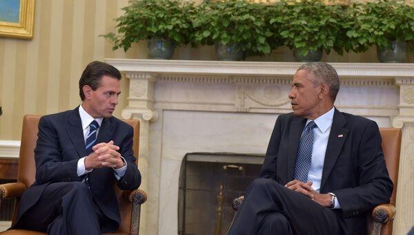 El presidente de México se reúne con Obama en Washington - Sputnik Mundo