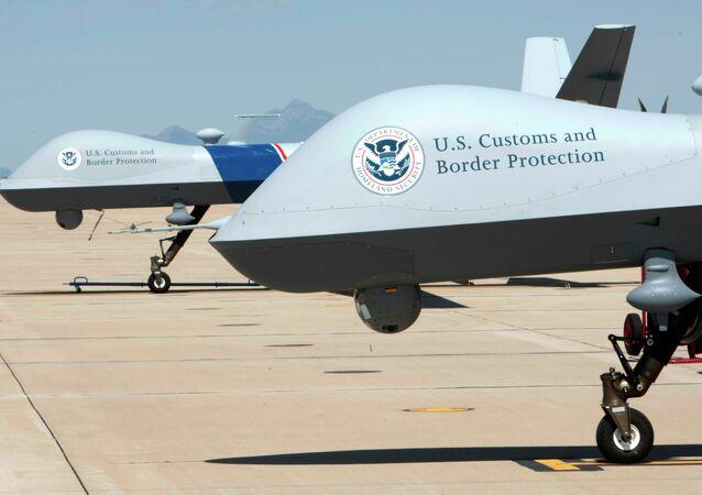 Американские дроны, патрулирующие границы