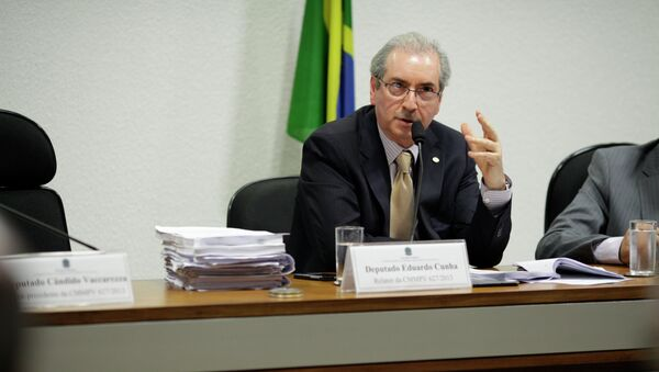 Eduardo Cunha, presidente del Congreso Nacional de Brasil y miembro el Partido del Movimiento Democrático de Brasil - Sputnik Mundo