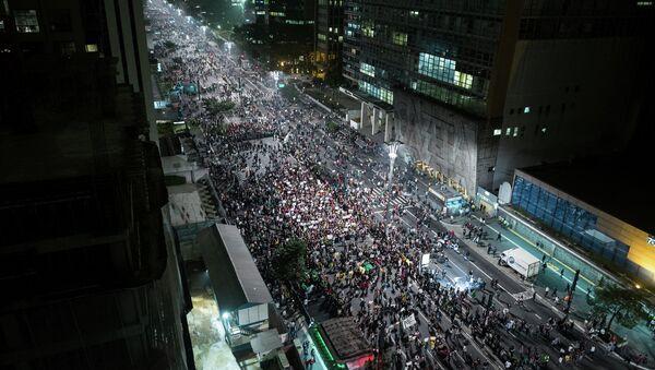Las protestas del Movimento Passe Livre congregan a cientos en Río de Janeiro y Sao Paulo - Sputnik Mundo