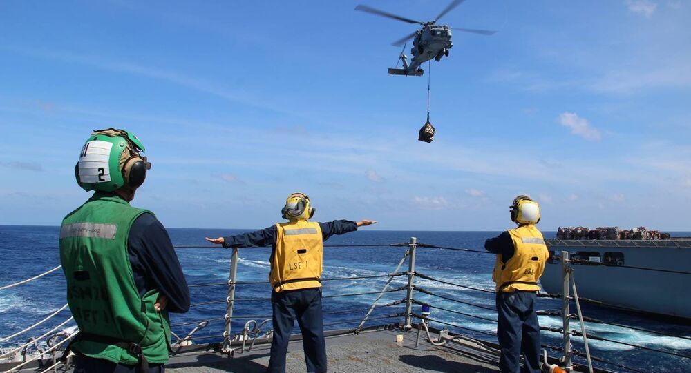 USS Kidd на поисках пропавшего боинга-777 Малайзийских авиалиний MH370