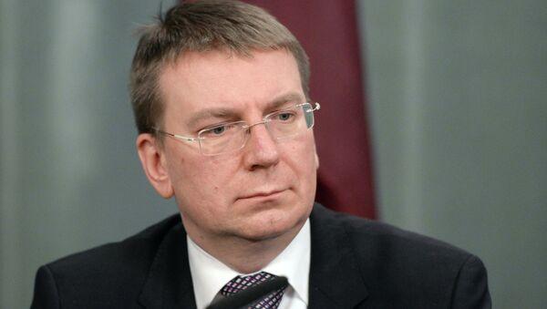 Edgar Rinkevics, ministro de Exteriores de Letonia - Sputnik Mundo