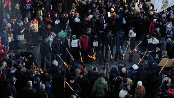 Ucranianos protestan en frente de la Rada Suprema - Sputnik Mundo