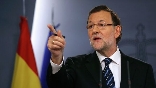 Spanish Prime Minister Mariano Rajoy holds a news conference at Moncloa palace in Madrid November 12, 2014. - Sputnik Mundo