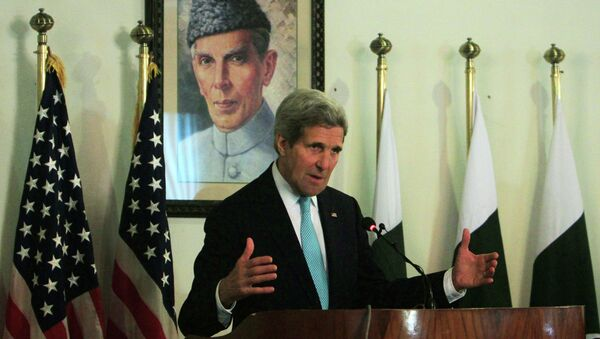 John Kerry. secretario de Estado de EEUU, llegó a Afganistán para fomentar la cooperación mutua en materia de seguridad e inteligencia, 13 de enero, 2015 - Sputnik Mundo