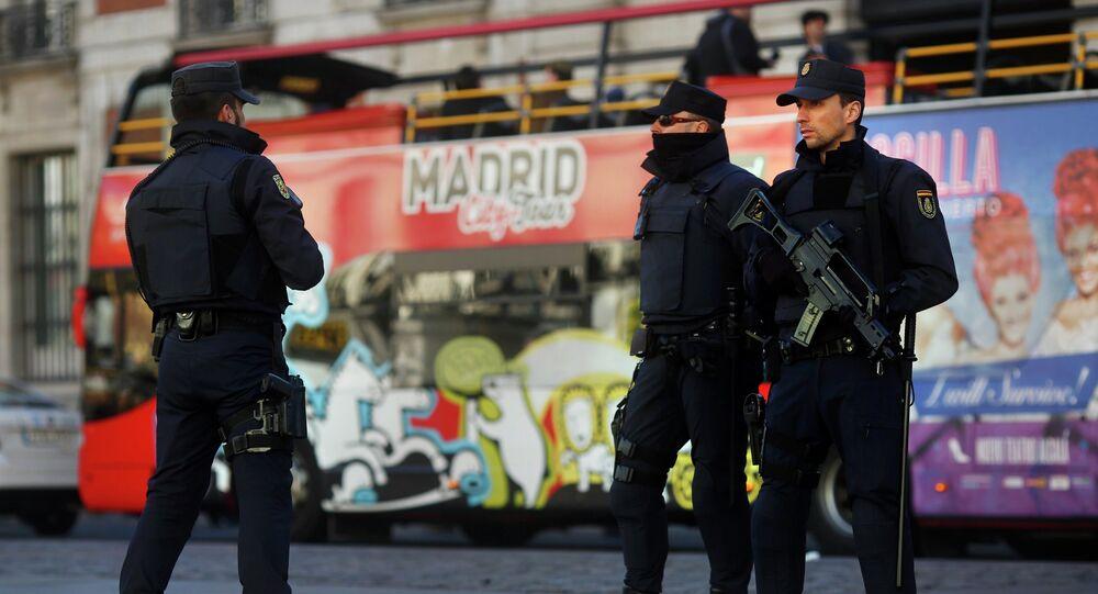 Policía española en Madrid